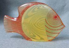 ABRAHAM PALATNIK Lucite Orange Fish Sculpture Brazil Mid-Century Modern Op Art