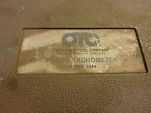 4Z- untested OTC Photo Tachometer # 3344 with case- complete???
