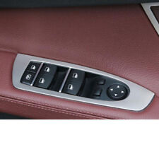 Steel Door Armrest Window Switch Cover Trim 4pcs For BMW 7 Series F01 F02 10-17