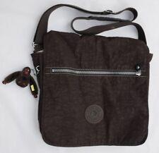 KIPLING Madhouse Dark Brown Front Flap Expandable Messenger Shoulder Bag Womens