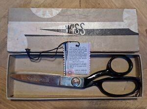 "Vintage Wiss Model C Pinking Shears 9"" Original Box and Tag USA"