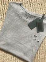"ALL SAINTS ALMOND GREY ""ARCHIE"" S/S DISTRESSED CREW T-SHIRT - XS M L XL NEW TAGS"