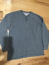 Work N Sport Men River Driver Shirt Henley Cotton Polyester Gray Xxlt 2Xlt