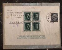 1937 Nordhausen Germany Souvenir Sheet Cover To Mexico City Mexico
