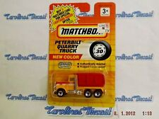 Vintage MATCHBOX PETERBILT Quarry Truck  # 30/1994 MOFC - Yellow&Red AWESOME G2