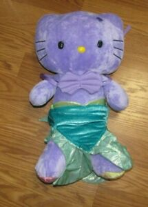 Purple Hello Kitty Build a Bear Sanrio Tie Dyed BAB Limited Edition Plush 18""