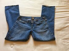 """True Religion Women's Jeans Size 28 Red stitching """"Johnny"""""""