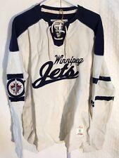 CCM Rib Knit LS NHL Jersey Winnipeg Jets Team Tan sz M