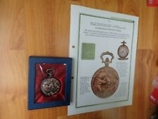 HACHETTE CLASSIC POCKET WATCH COLLECTION- EQUESTRIAN HORSE 1900S STYLE WATCH #23