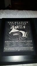 The Beatles Love Songs Rare Original Promo Poster Ad Framed!