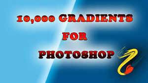 Photoshop Gradients, Bundle with 10,000 Gradients color For Photoshop, GRD Pack