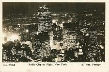 NEW YORK CITY – Radio City at Night Real Photo Postcard rppc