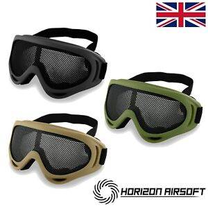 Horizon Mesh Airsoft Tactical Safety Goggles Glasses Face Eye Protection Mask UK