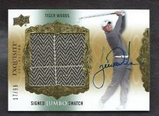 2013 Upper Deck Exquisite Golf SIGNED JUMBO PATCH AUTO Card TIGER WOODS #17/99