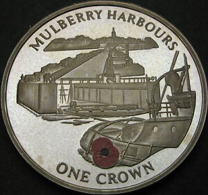 GIBRALTAR 1 Crown 2004 Proof - Mulberry Harbours - 3856 ¤