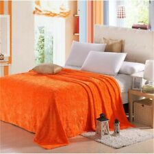 Solid Warm Blanket Soft Embossed Coral Fleece Blanket On Bed Queen King  Blanket