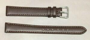 Pulsera Correa de Reloj Piel Legítima 14 mm Marrón | Natural XL Extra Larga