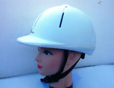 White Riding Helmets