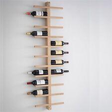 Wall Mounted 22 Bottle Large Vintage Wooden Oak Storage Bar WINE RACK Display UK