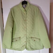 M&S COLLECTION GREEN 3M THINSULATE LIGHT QUILTED JACKET Sz16  BNWT