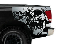 Vinyl Graphics Decal Wrap Kit for Nissan Titan Truck 2004-13 DOUBLE SKULL Silver