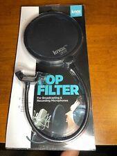 Studio Microphone Wind Screen Mask Gooseneck Shield Pop Filter - Knox Gear - NEW