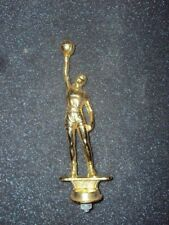 Vintage Gold Metal Basket Ball Man Player Shooting a lay up Trophy Topper 6""