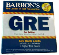 Barron's GRE Flash Cards 3rd Edition 500 cards Study
