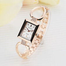 Ladies Fashion Rose Gold White Dial Quartz Bracelet Link Band Wrist Watch.