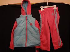 Reebok Girls Jogging Running Set Pink Size 4T Jacket Pants NWT