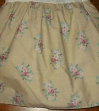 Laura Ashley Isabelle Twin Ruffled Bedskirt Tan With Floral Print Rare Excellent