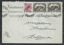 Monaco covers 1930 mixed franked Hotelcover to Marssum