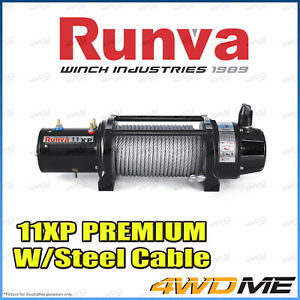 RUNVA 11XP Premium IP67 WATERPROOF 12V W/Steel Cable Recovery Winch + Extras
