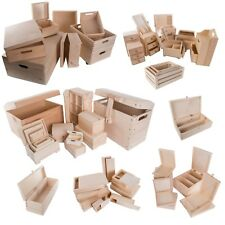 Selection of 100 Large & XL Wooden Storage Boxes / Wood Trunk Chest Crate Box