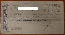 FALOMO GIACOMO ASSEGNO BANCARIO/CHECK DA 156 LIRE GEMONA 1933 #F305