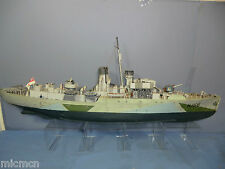 "HAND BUILT REVELL KIT  MODEL WW2  ""FLOWER"" CLASS  K-166 HMS SNOWBERRY CORVETTE"