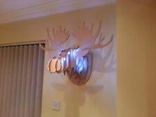 alce americano Cabeza Con Luces 3d Decoración Pared trophey Escultura OTROS