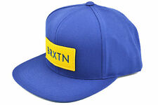 BRIXTON RIFT SNAPBACK CAP ADJUSTABLE BLUE YELLOW AUTHENTIC - IMPORTED FROM USA