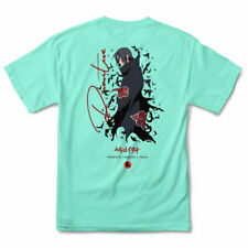 Primitive x Naruto Itachi Men's Crows Short Sleeve T Shirt Celadon Blue Cloth.