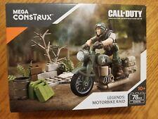 Mega Construx Call Of Duty Legends: Motorbike Raid Construction Set 78 Pcs New!