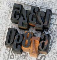 0-9 Holzzahlen 36 mm Ziffern Plakatlettern Holzlettern Zahlen letterpress Ziffer