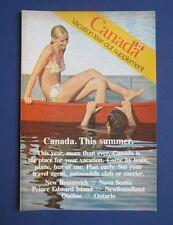 Vintage 1974 Canada Vacation Insert Print Advertisement/Brochure
