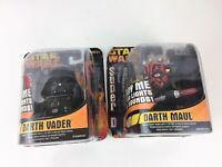 Hasbro 2005 Star Wars Super Deformed Palm Talker Figure LOT Darth Vader & Maul
