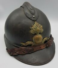 WW1 French Officer's Ecole Speciale Militaire 1st Type M1915 Adrian helmet LOOK!