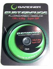 Gardner Subterfuge Fluorocarbon Hook Link 15lb Super Stiff 15mtrs - Carp Fishing