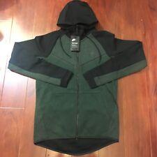 1c639ddb7587 Nike Tech Fleece Full Zip Windrunner Jacket Green 885904-372 Men Size Small