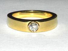 18kt YELLOW GOLD BEZEL SET DIAMOND RING SIZE 6.5