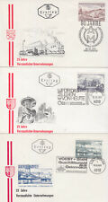 Austria FDCs 1971 Nationalised Industries on three covers
