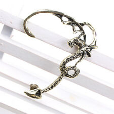 Gothic Vintage Retro Rock Punk Temptation Dragon Hook Ear Stud Cuff Wrap Earring