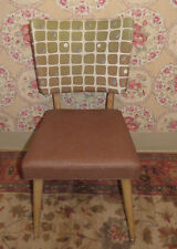1950's Vintage Mid Century Modern Chair Blonde Wood Original Upholstery